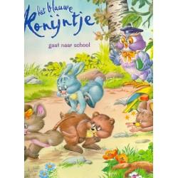 Het blauwe konijntje gaat naar school