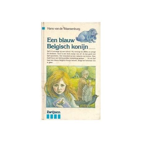 Een blauw Belgisch konijn