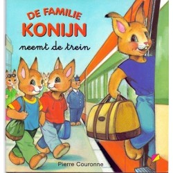 De familie Konijn neemt de trein