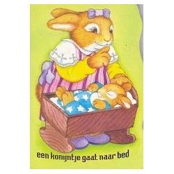 Een konijntje gaat naar bed